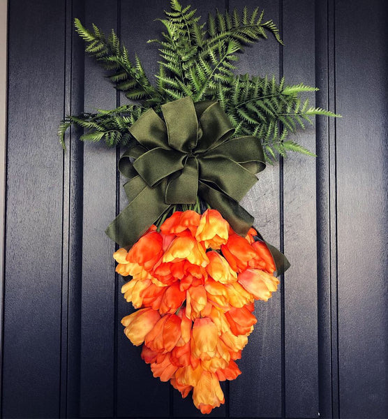 Easter Tulip Carrot Wreath