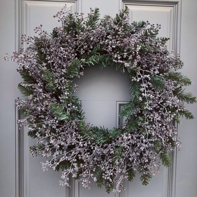 Glittery Green All Winter Wreath (Ready to Ship)