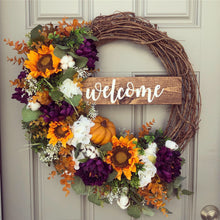 30% OFF SALE Sunflower Pumpkin Garden Wreath