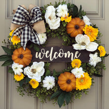 Boxwood Magnolia Pumpkin Wreath (for Karen)
