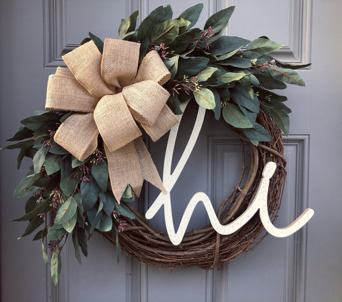 Eucalyptus Leaf hi Wreath