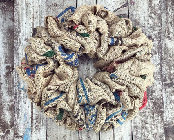 Burlap Bag Wreath (Made to Order)