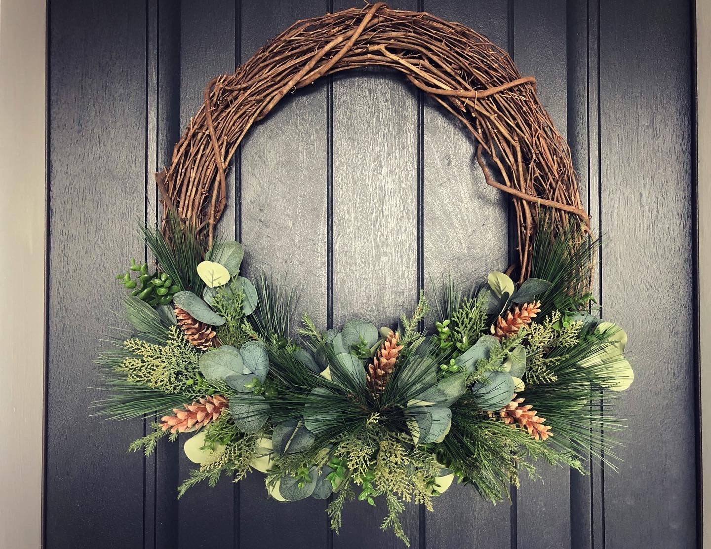 "24"" Evergreen Wreath for Ashley"