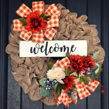Autumn Burlap Welcome