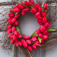 Vday Twig Tulip Wreath (Made to order)