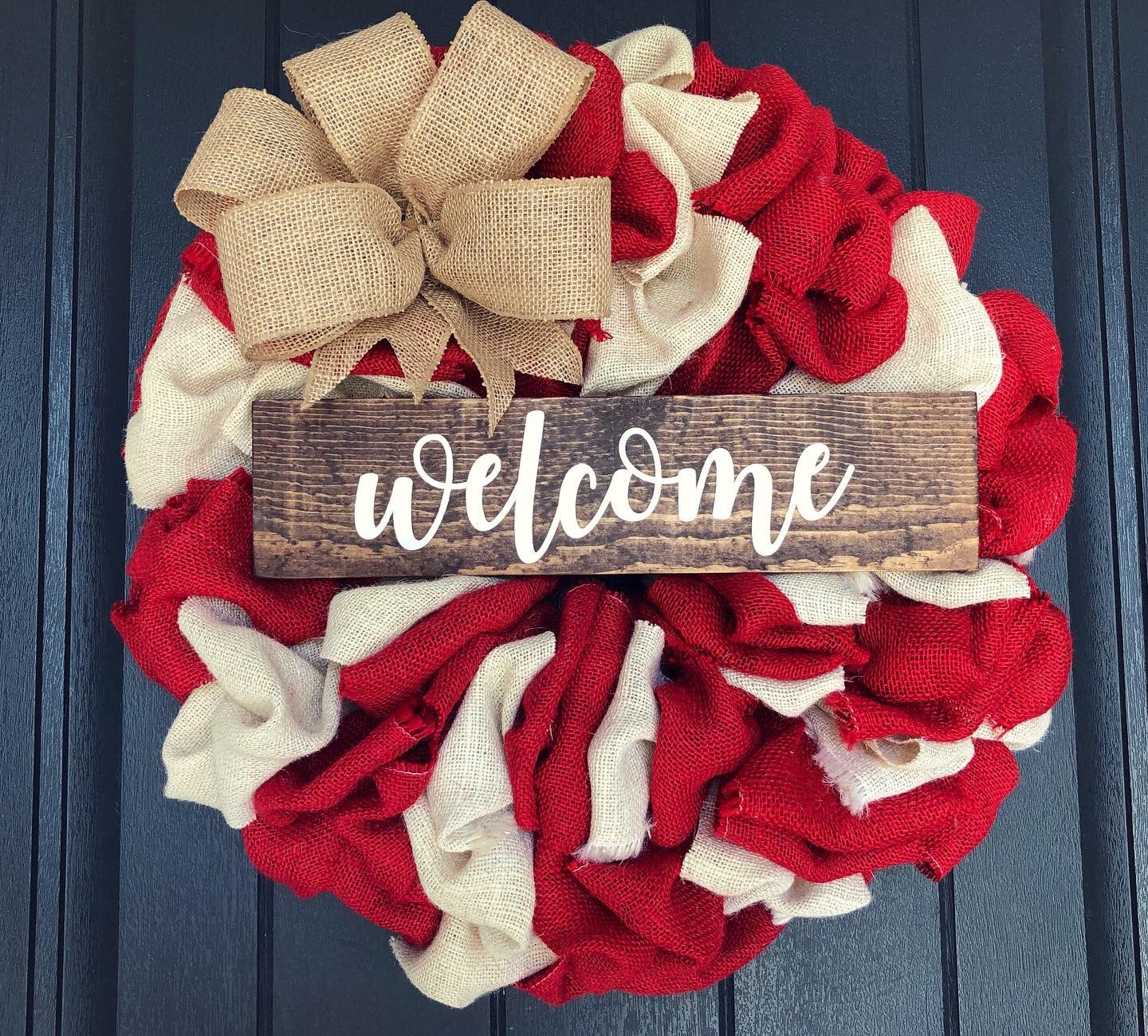 Welcome Burlap