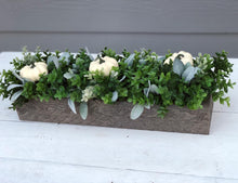 Farmhouse Pumpkin Boxwood Centerpiece