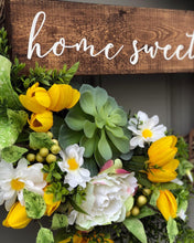 Home Succulent Wreath