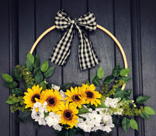 Sunflower Hoop Wreath