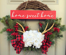 Country Antler Pine Wreath