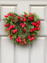 Boxwood Tulip Heart Wreath (Made to order)