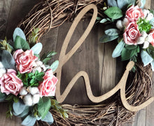 Sweet Pea Rose Wreath