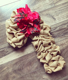 "24"" Golden Burlap Candy Cane"