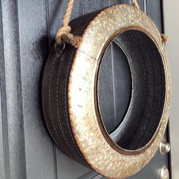 Galvanized Metal Tire Swing Planterwreath Kcleeco