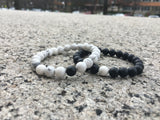 2 PC SET! Distance Bracelets - Black and White - Galaxy Accessories