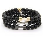 GAINS Dumbbell Bracelet 3 PC STACK (4 Colors) - Galaxy Accessories