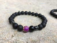 2 PC SET! Distance Bracelets - Blue and Purple - Galaxy Accessories