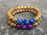 2 PC Set! Forever Yours Bracelets *WOOD EDITION* - Galaxy Accessories