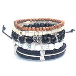 5 PC BRACELET STACK! Silver Owl Charm - Galaxy Accessories