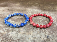 2 PC SET!  Fire and Ice Bracelets - Galaxy Accessories