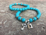 Lock and Key Bracelet Set - Galaxy Accessories