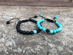 Adjustable Turquoise Distance Bracelets Set - Galaxy Accessories