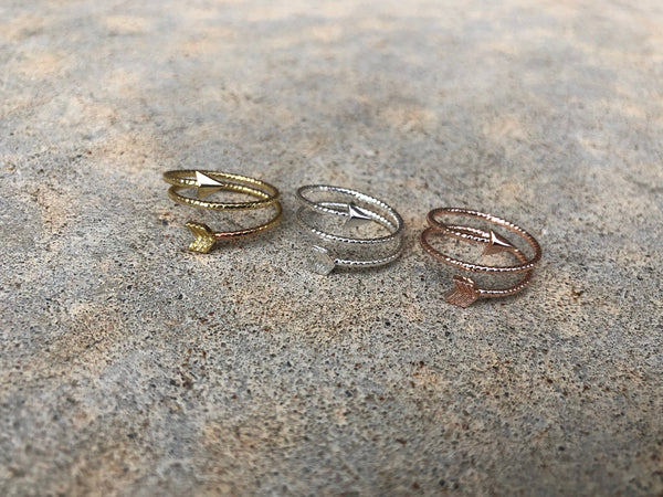 Adjustable Spiral Arrow Ring - Galaxy Accessories