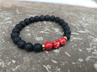 2 PC SET! Positive Vibes Red Bracelets - Galaxy Accessories
