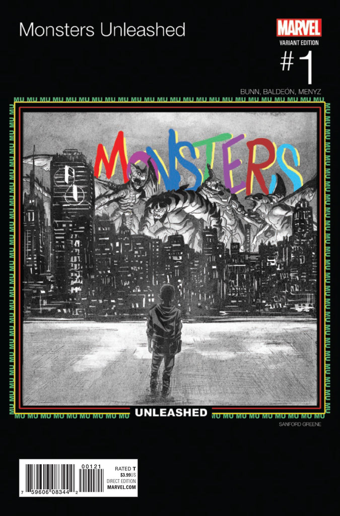 MONSTERS UNLEASHED #1 GREENE HIP HOP VAR