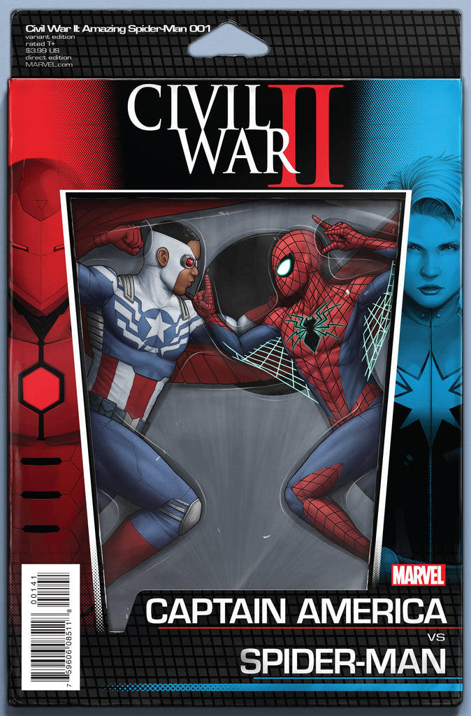CIVIL WAR II AMAZING SPIDER-MAN #1 (OF 4) ACTION FIGURE VAR
