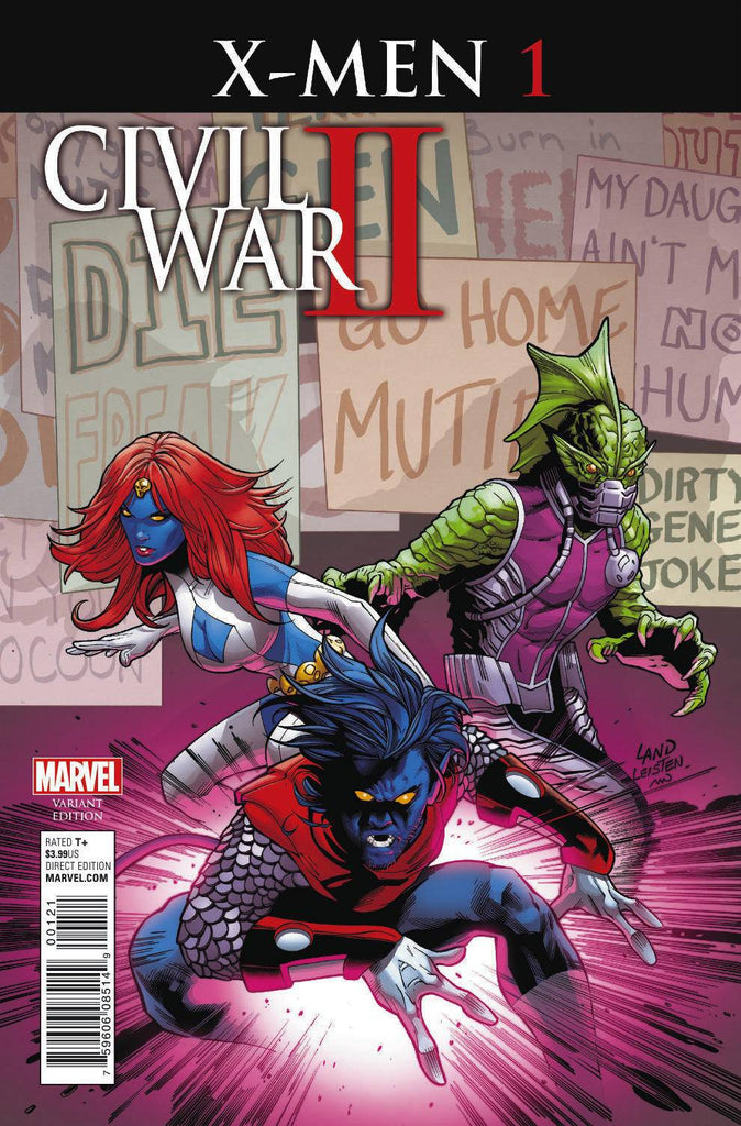 CIVIL WAR II X-MEN #1 (OF 4) LAND VAR