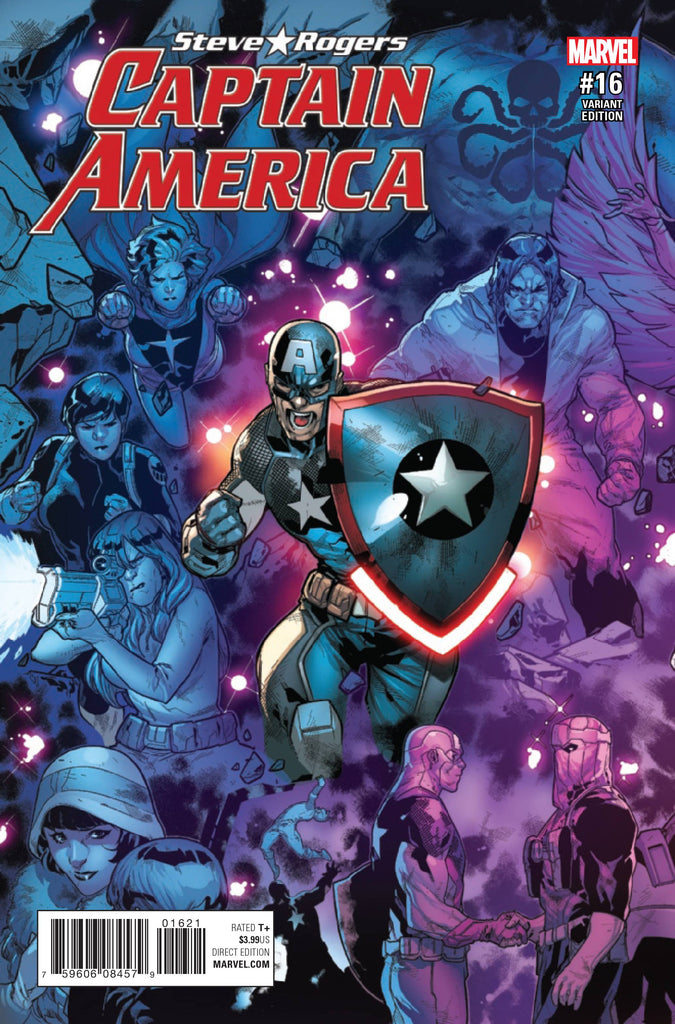 CAPTAIN AMERICA STEVE ROGERS #16 RB SILVA CONNECTING A VAR