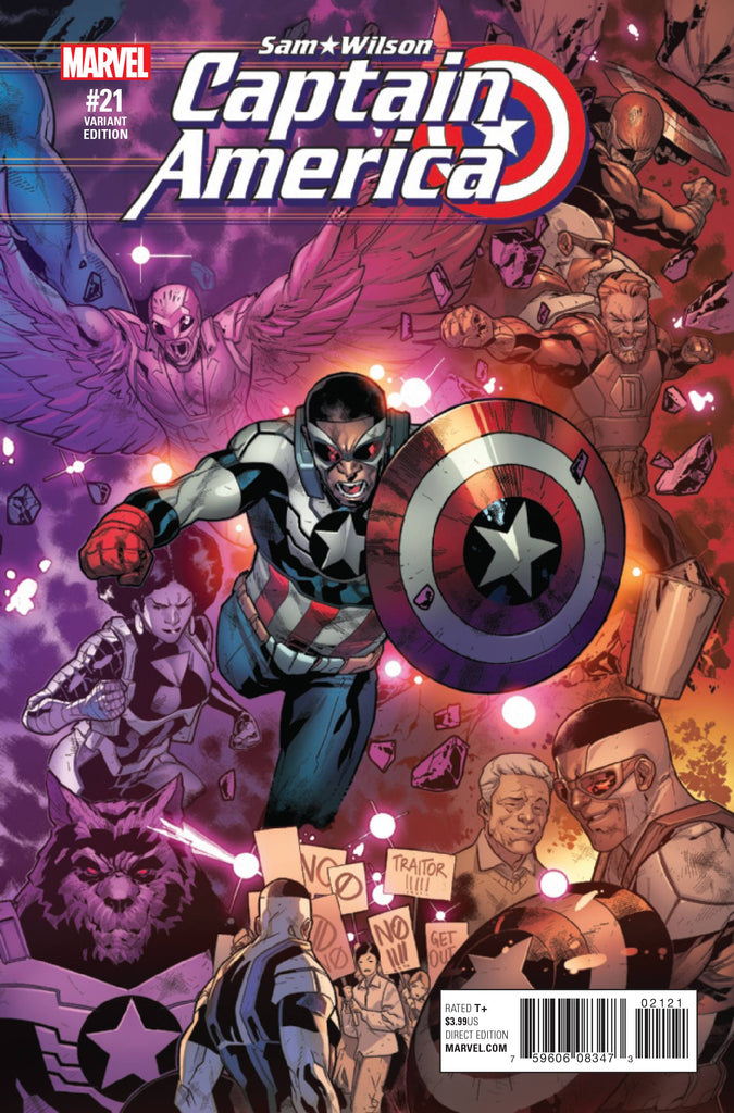 CAPTAIN AMERICA SAM WILSON #21 RB SILVA CONNECTING A VAR