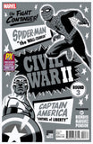 CIVIL WAR II #3 (OF 8) SDCC 2016 MICHAEL CHO B&W VAR