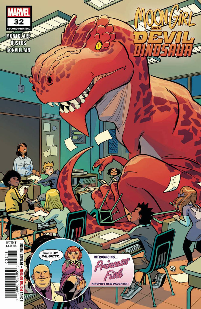 MOON GIRL AND DEVIL DINOSAUR #32 2ND PTG BUSTOS VAR