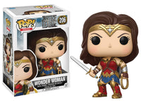POP JUSTICE LEAGUE MOVIE WONDER WOMAN VINYL FIG (Damaged Box)