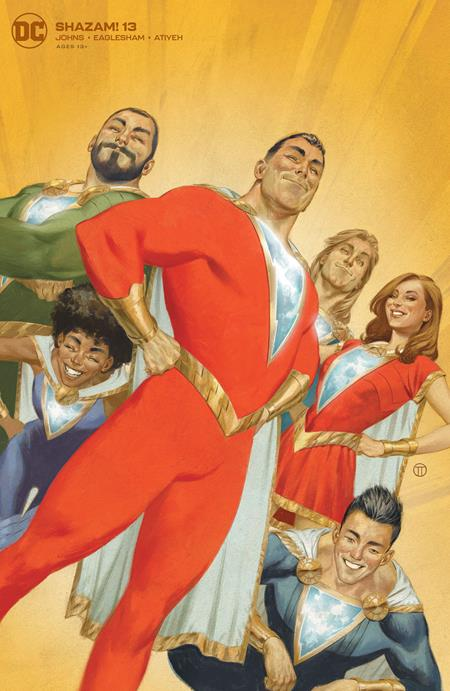 SHAZAM #13 CARD STOCK JULIAN TOTINO TEDESCO VAR ED
