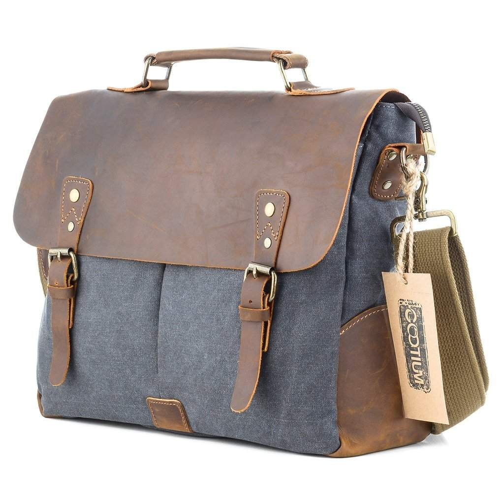 dff040631f7 Gootium Canvas Leather Messenger Laptop Bag  21108