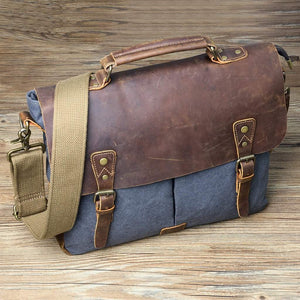 Gootium Canvas Leather Messenger Laptop Bag #21108