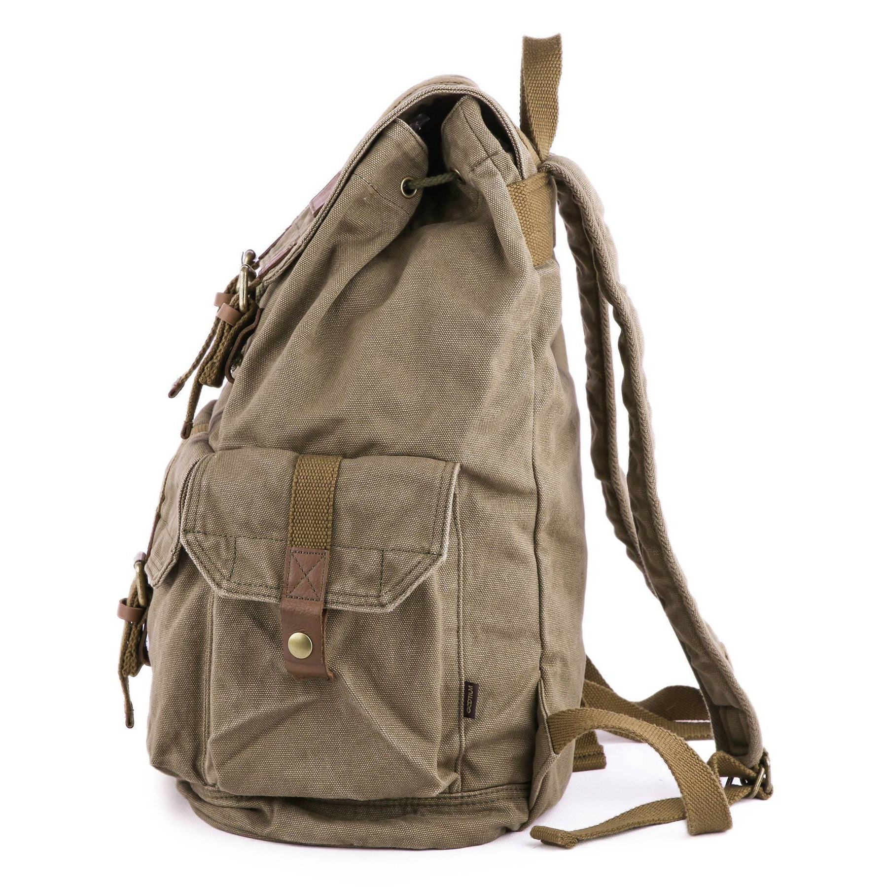 79ed2cae406b Vintage Canvas Backpack - Gootium