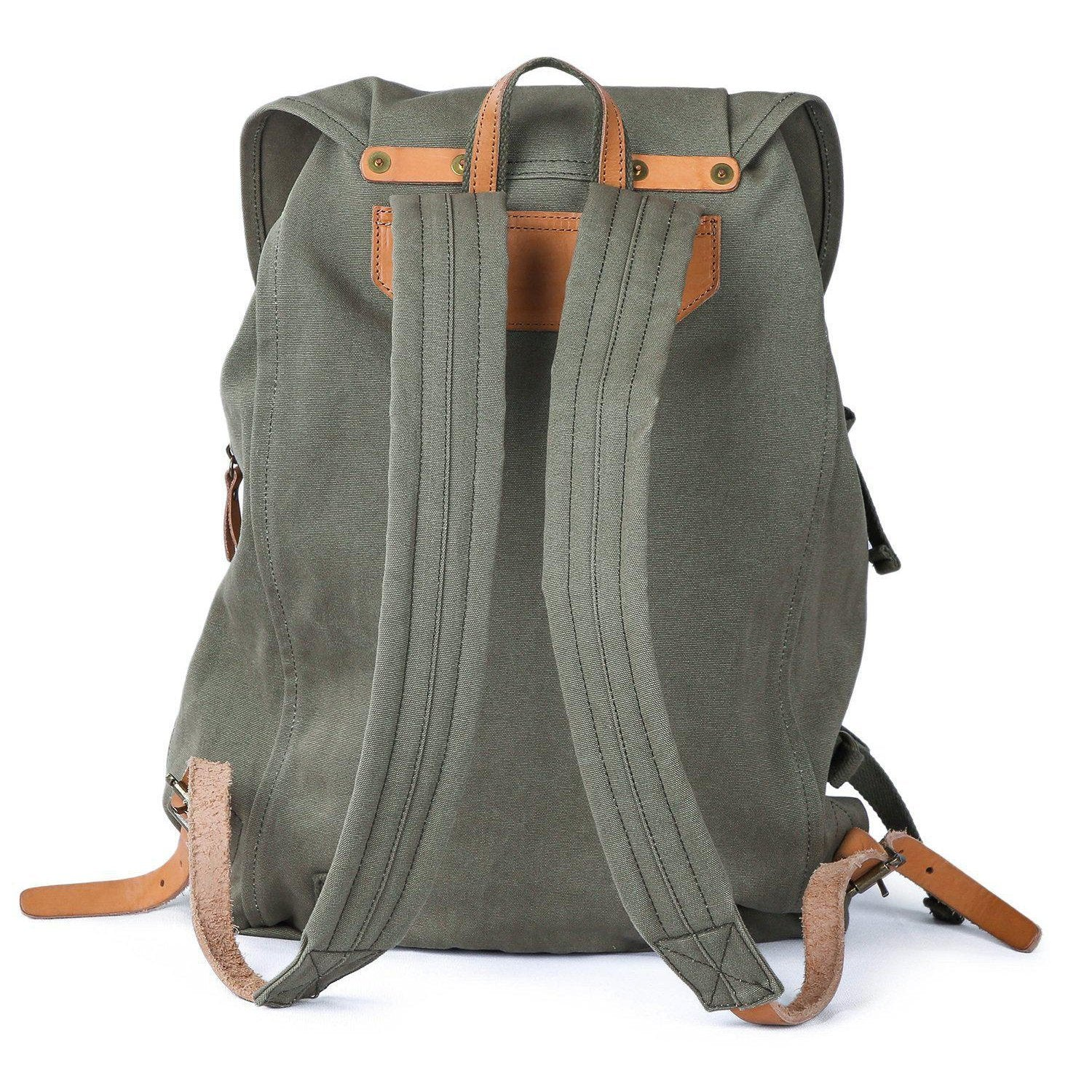 63c3e865134 10 Best Leather and Canvas Backpack - Gootium