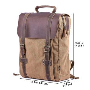 Gootium Leather Canvas Backpack #71102
