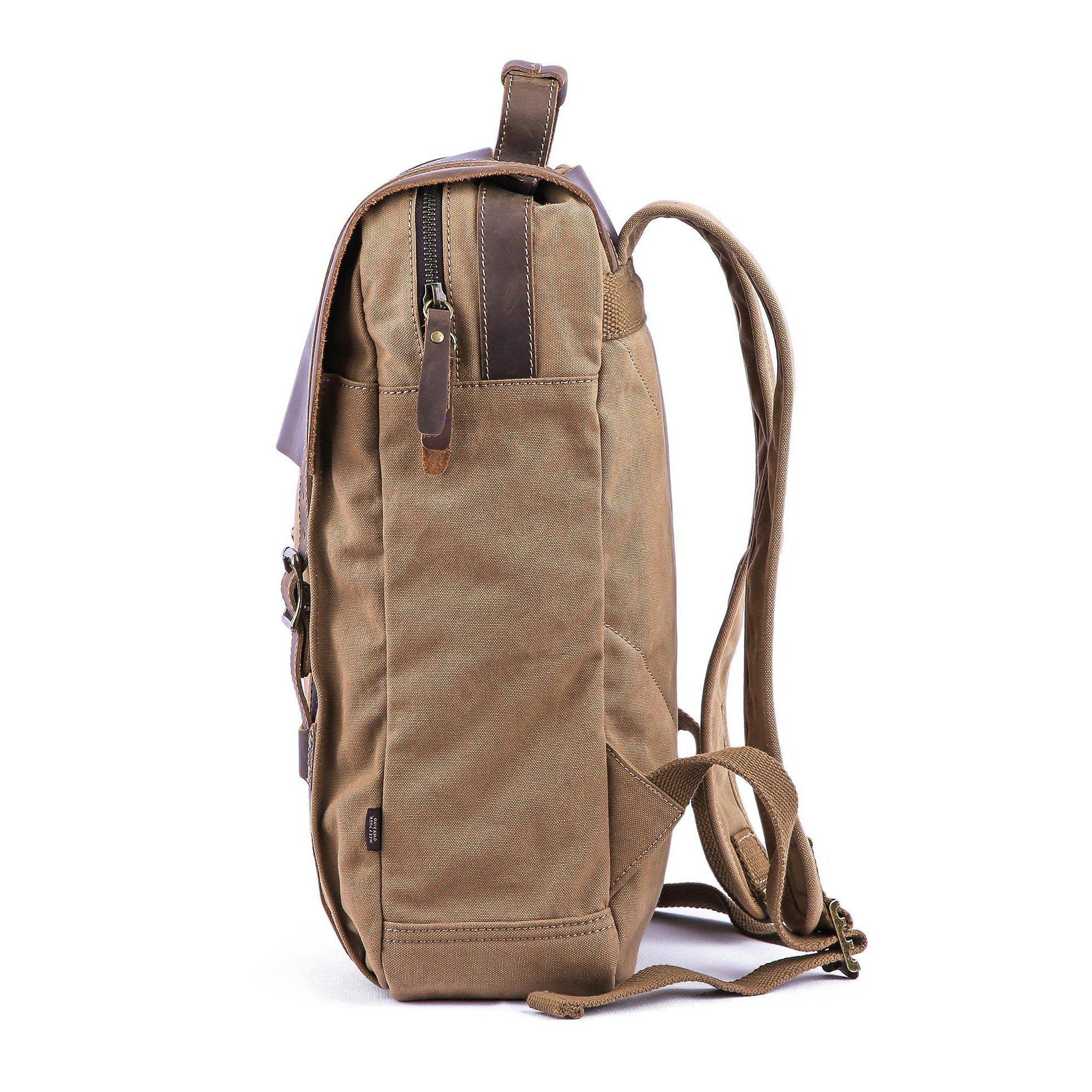3f00f9fcd1a4 Canvas Backpacks Vintage Canvas Rucksack