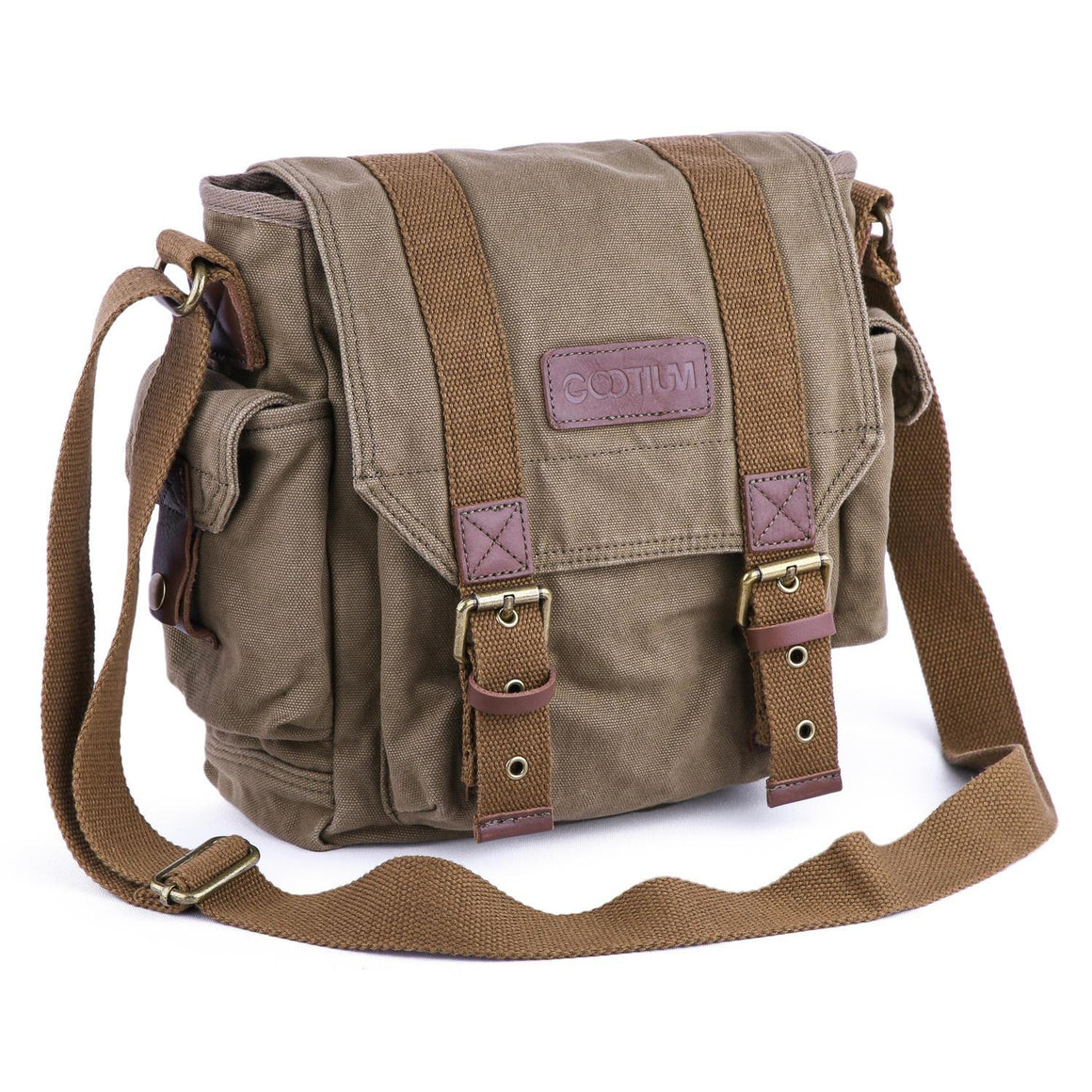 e79051768c Leather Canvas Backpack  71102 - Gootium