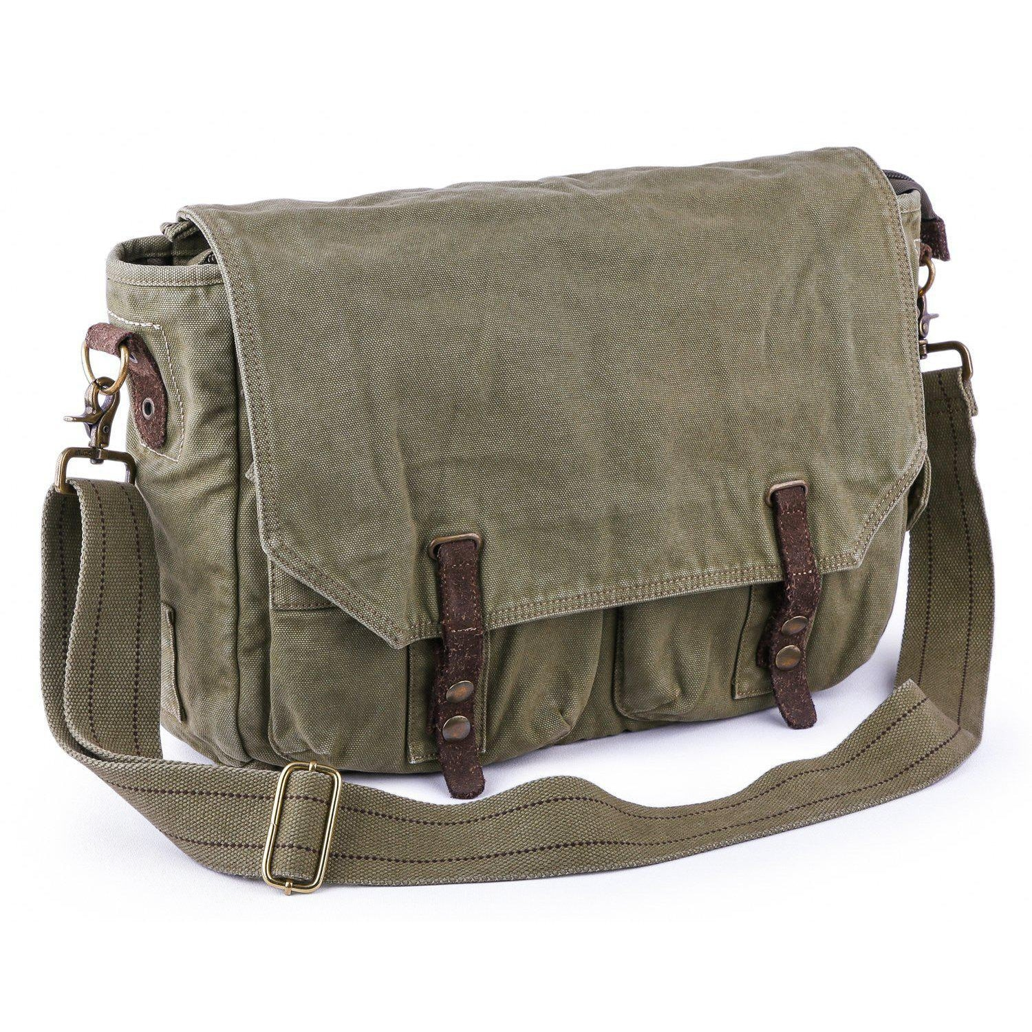 dba9b21bc1 Gootium Vintage Canvas Messenger Bag  60403
