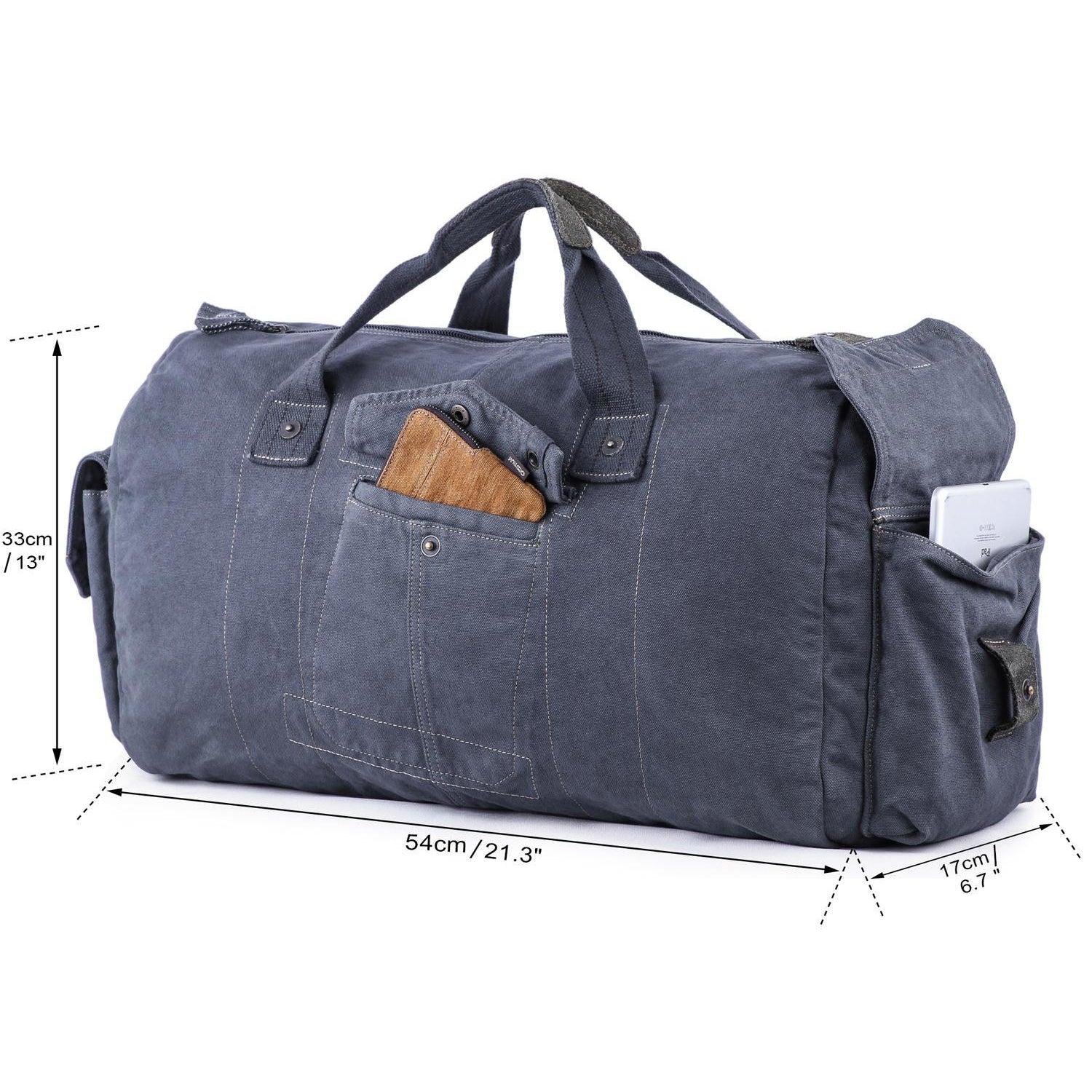 Gootium Canvas Duffel Bag  60404 4e15883a0ca