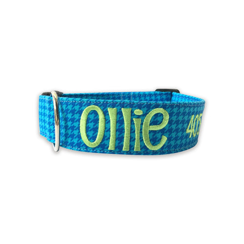 Blue Houndstooth Collar