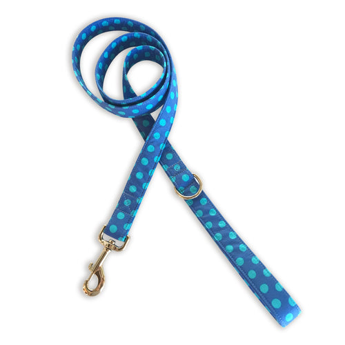 Blue & More Blue Dots Leash