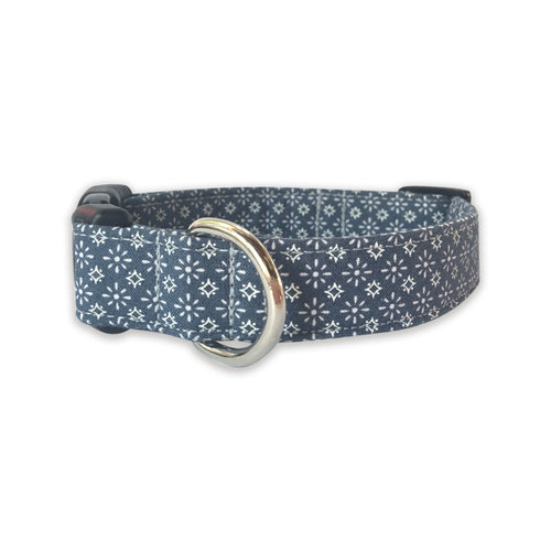 Denim Bandana Print Collar