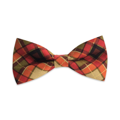 Fall Plaid Bow Tie